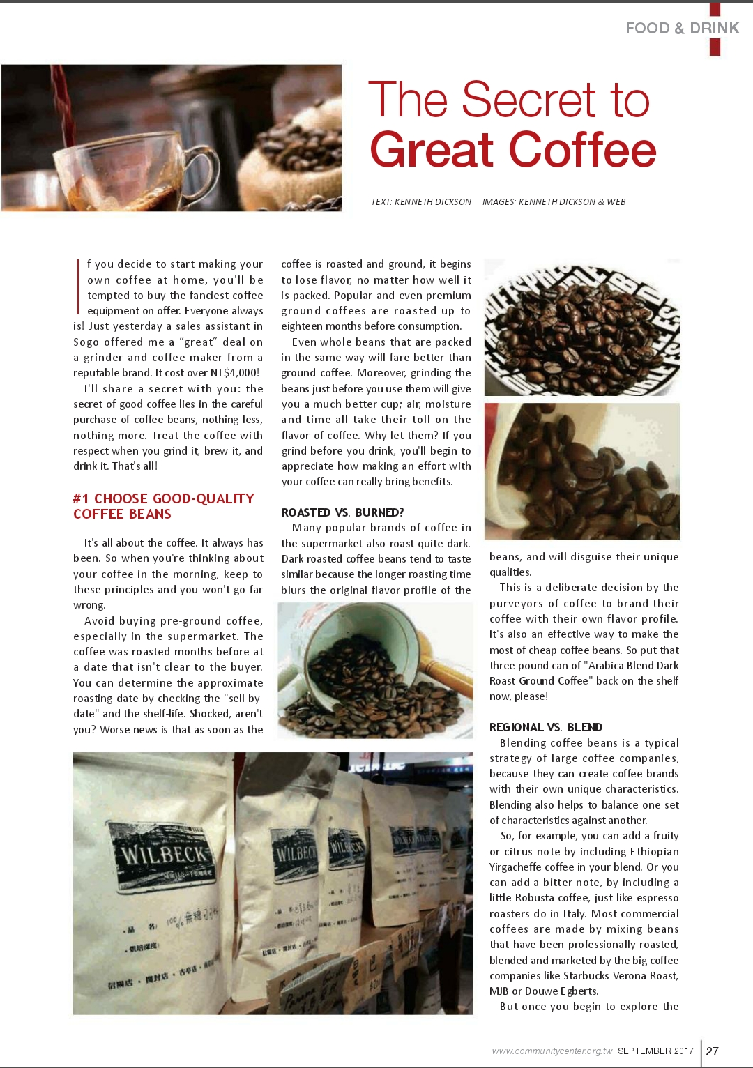 Coffee Writer: Secret to Great Coffee